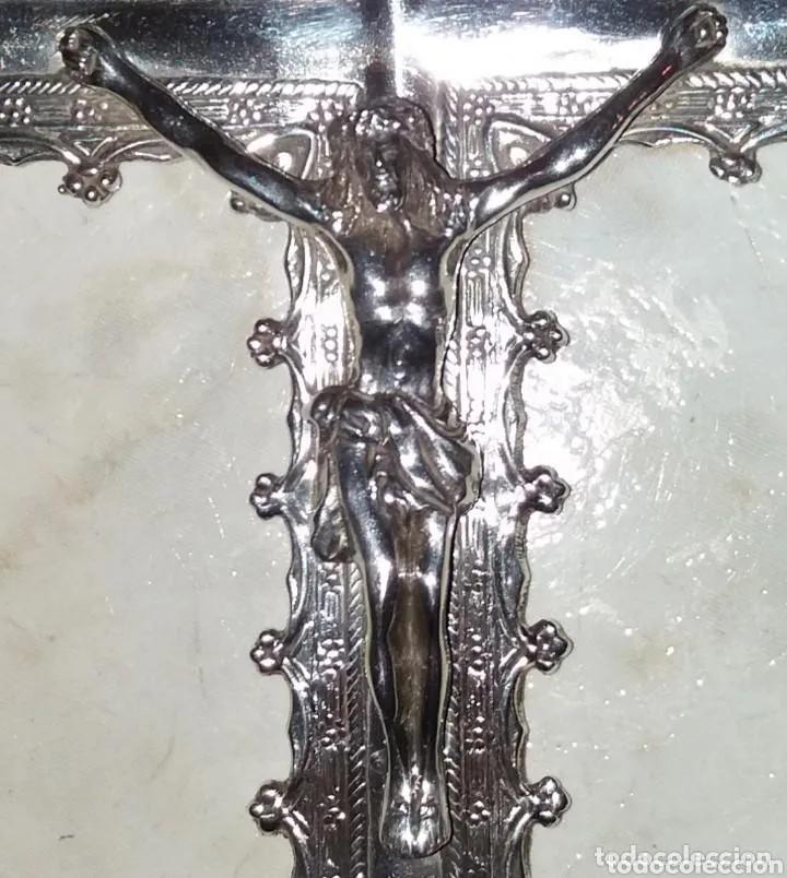 Antigüedades: Escultura Cristo en Cruz, siglo XVIII plata de ley maciza - Foto 2 - 177591563