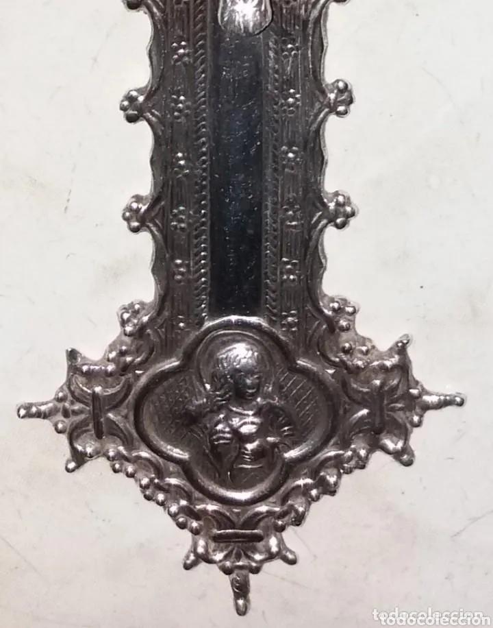 Antigüedades: Escultura Cristo en Cruz, siglo XVIII plata de ley maciza - Foto 4 - 177591563