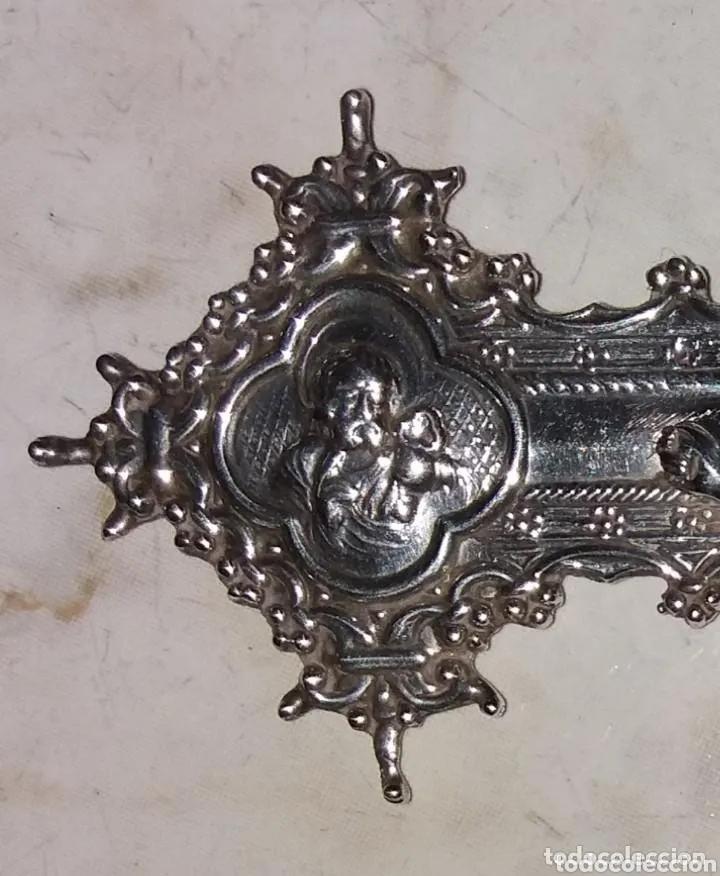 Antigüedades: Escultura Cristo en Cruz, siglo XVIII plata de ley maciza - Foto 5 - 177591563