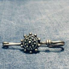 Antigüedades: BROCHE IMPERDIBLE PLATA CHARRO SALAMANCA CONTRASTE EN ALFILER. Lote 177598993