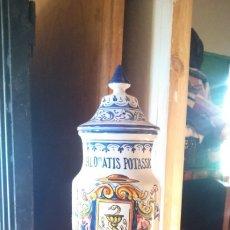 Antigüedades: BONITO ALBARELO DE TALAVERA PERFECTO 34 CM. Lote 177601328