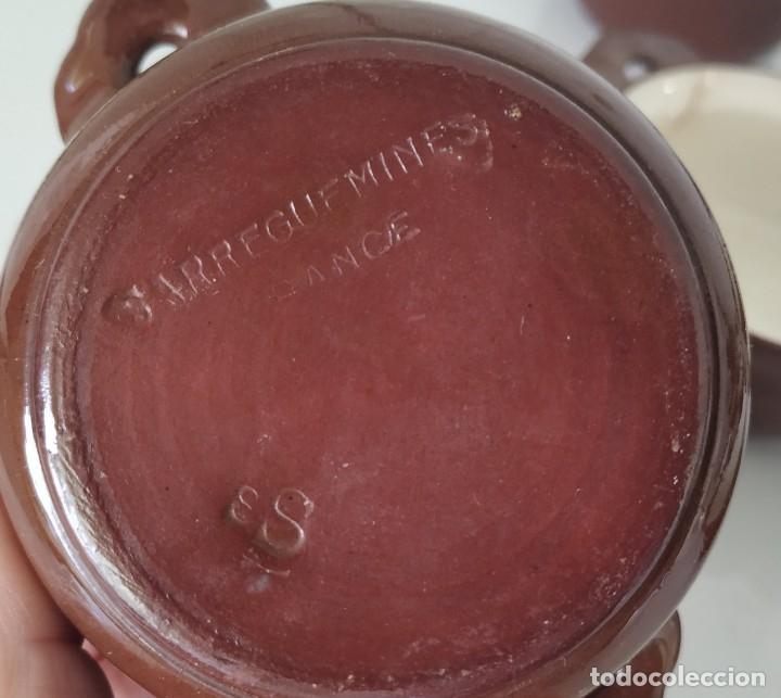 Antigüedades: Curioso juego de 16 cazuelitas cazuelas de Sarreguemines. Francia - Foto 8 - 177617260