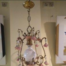 Antigüedades: LAMPARA DE TECHO MODERNISTA. Lote 177617983