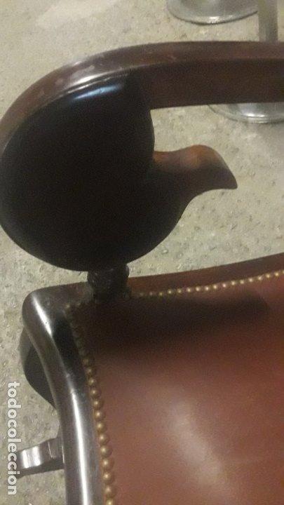Antigüedades: Mecedora balancin caoba - Foto 4 - 177618650