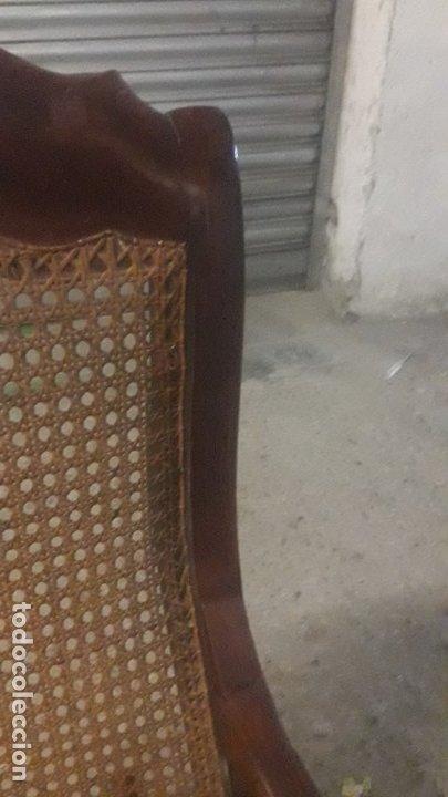Antigüedades: Mecedora balancin caoba - Foto 5 - 177618650