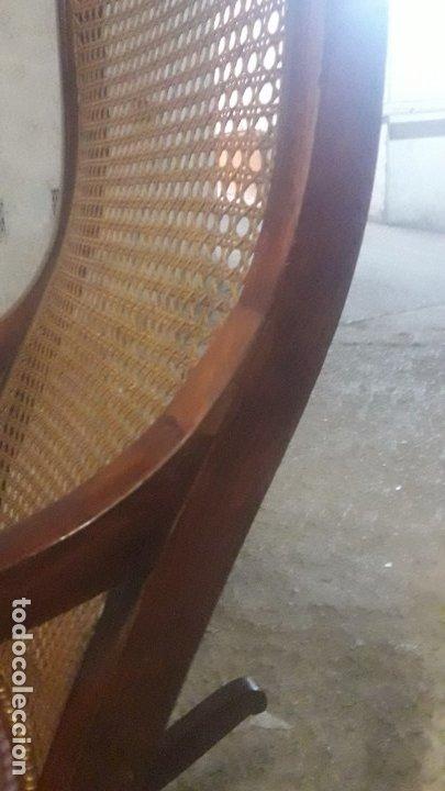 Antigüedades: Mecedora balancin caoba - Foto 10 - 177618650