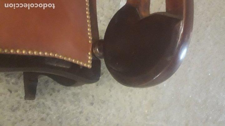 Antigüedades: Mecedora balancin caoba - Foto 14 - 177618650