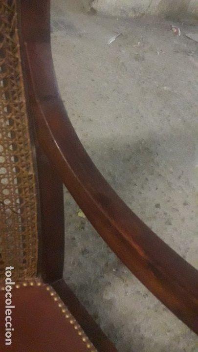 Antigüedades: Mecedora balancin caoba - Foto 17 - 177618650