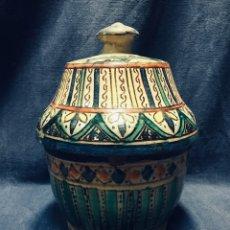 Antigüedades: JOBBANA CERAMICA MARRUECOS MARROQUI MAROC MAROCAIN S XIX FEZ 24X18X18CMS. Lote 177629458