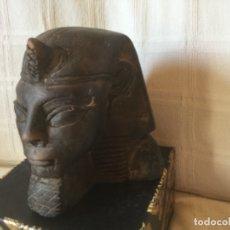 Antigüedades: ESFINGE EGIPCIA EN PIEDRA CALIZA. Lote 177643344