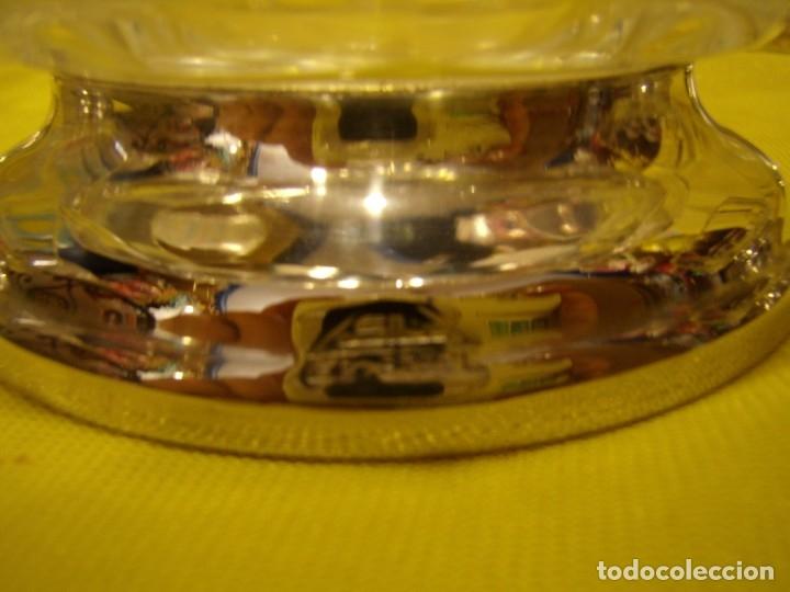 Antigüedades: Juego Macedonia cristal 24 % plomo, pie de plata, helado, años 80, Italia, 6 cuencosNuevo sin usar. - Foto 5 - 177643460
