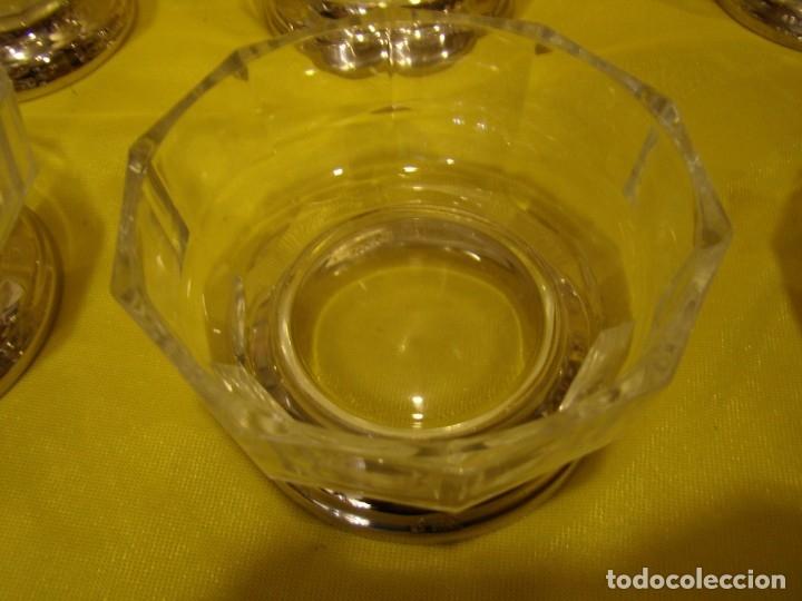 Antigüedades: Juego Macedonia cristal 24 % plomo, pie de plata, helado, años 80, Italia, 6 cuencosNuevo sin usar. - Foto 9 - 177643460