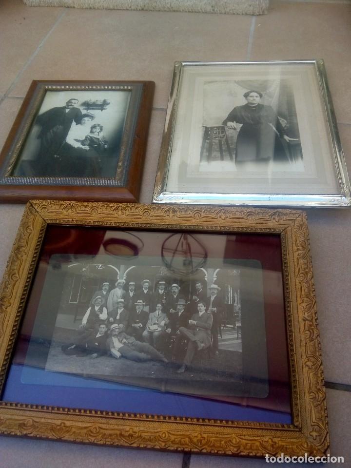 LOTE 3 PORTAFOTOS (Antigüedades - Hogar y Decoración - Portafotos Antiguos)