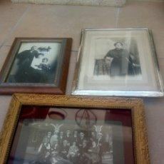 Antigüedades: LOTE 3 PORTAFOTOS. Lote 177657947