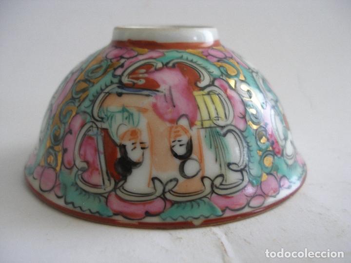 Antigüedades: Cuenco porcelana china pintado a mano Fabricado en Macao - Foto 2 - 51355962