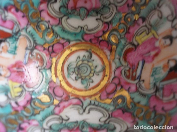 Antigüedades: Cuenco porcelana china pintado a mano Fabricado en Macao - Foto 6 - 51355962