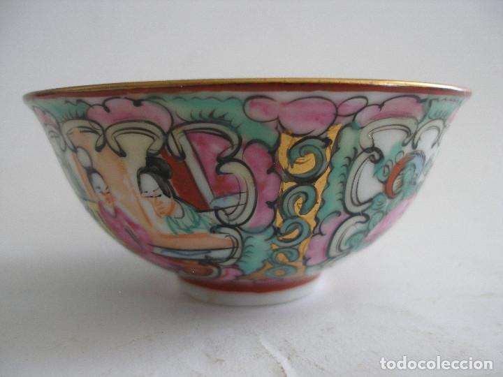 CUENCO PORCELANA CHINA PINTADO A MANO FABRICADO EN MACAO (Antigüedades - Porcelanas y Cerámicas - China)