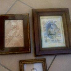 Antigüedades: LOTE 3 PORTAFOTOS ANTIGUOS. Lote 177660193