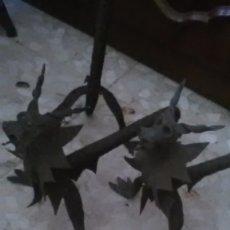 Antigüedades: DRAGONES HIERRO FORJA, RAROS. Lote 177622018