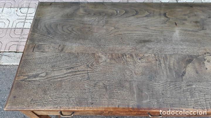 Antigüedades: Escritorio antiguo estilo industrial. Mesa tocinera antigua. Mesa de taller cocina vintage. - Foto 10 - 194156236