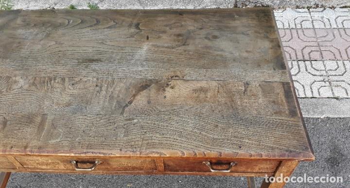 Antigüedades: Escritorio antiguo estilo industrial. Mesa tocinera antigua. Mesa de taller cocina vintage. - Foto 11 - 194156236