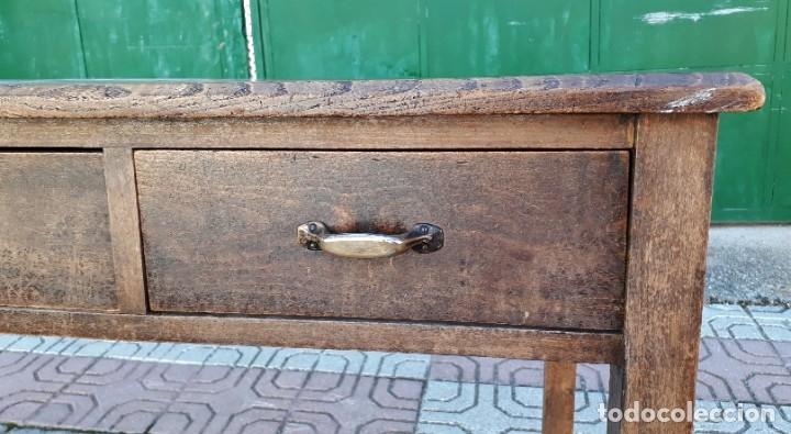 Antigüedades: Escritorio antiguo estilo industrial. Mesa tocinera antigua. Mesa de taller cocina vintage. - Foto 14 - 194156236