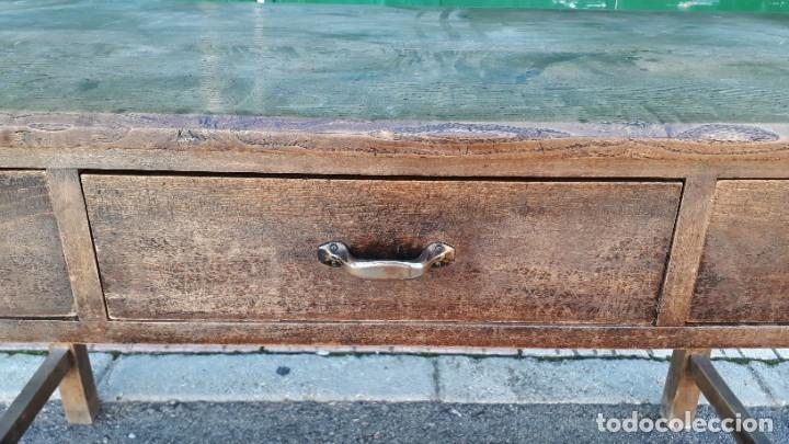 Antigüedades: Escritorio antiguo estilo industrial. Mesa tocinera antigua. Mesa de taller cocina vintage. - Foto 15 - 194156236