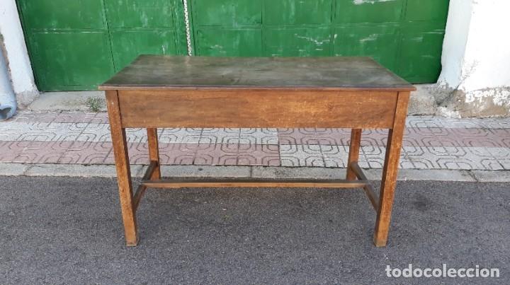 Antigüedades: Escritorio antiguo estilo industrial. Mesa tocinera antigua. Mesa de taller cocina vintage. - Foto 19 - 194156236