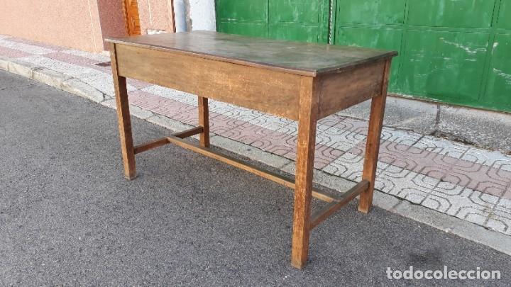 Antigüedades: Escritorio antiguo estilo industrial. Mesa tocinera antigua. Mesa de taller cocina vintage. - Foto 21 - 194156236