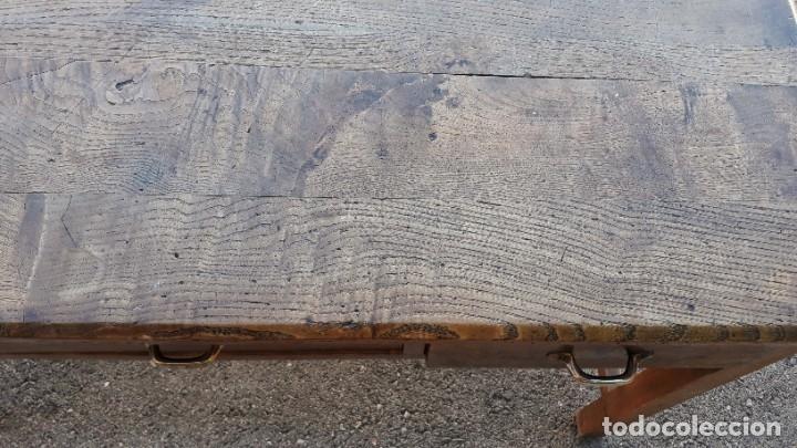 Antigüedades: Escritorio antiguo estilo industrial. Mesa tocinera antigua. Mesa de taller cocina vintage. - Foto 22 - 194156236
