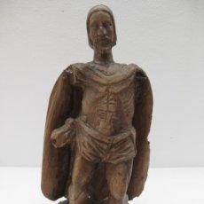 Antigüedades: ANTIGUA ESCULTURA DE MADERA. 47CM. 3,2KG.. Lote 177671799