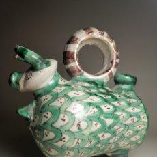 Antigüedades: BOTIJO TORO VACA ---AÑOS 50 --FIRMADO PUNTER. Lote 177677430