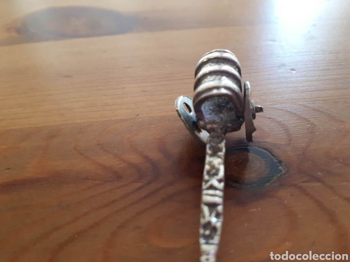 Antigüedades: Cuchara cucharilla carro (plata?) - Foto 6 - 177680773