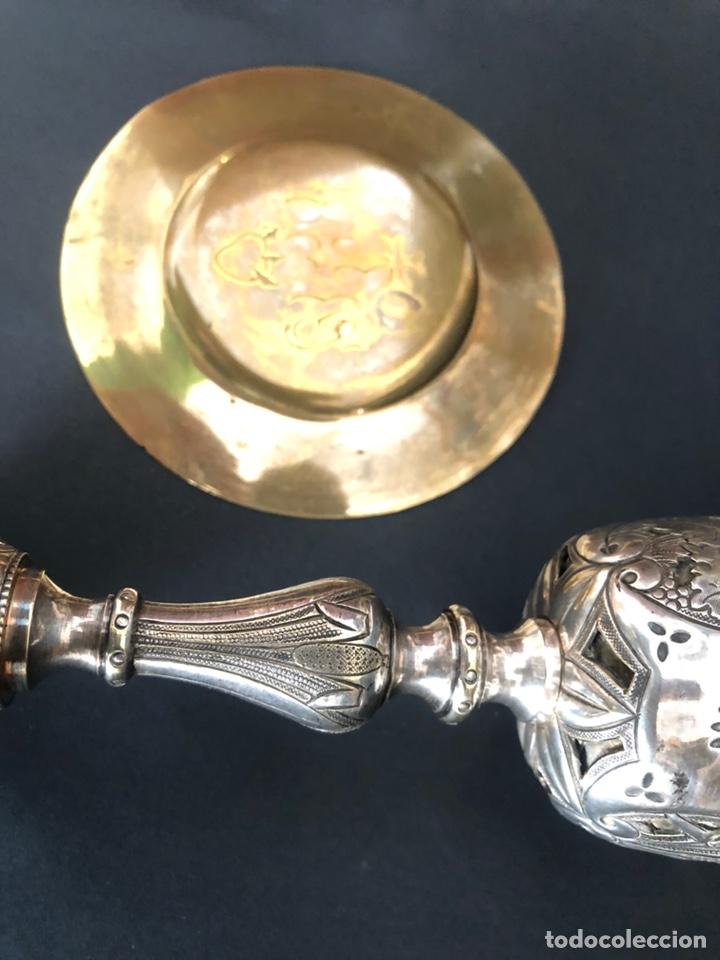 Antigüedades: Precioso y coqueto cáliz del S. XIX con su patena - Foto 9 - 177696724