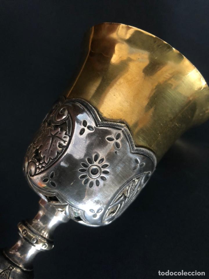 Antigüedades: Precioso y coqueto cáliz del S. XIX con su patena - Foto 13 - 177696724