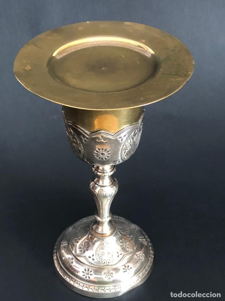 Antigüedades: Precioso y coqueto cáliz del S. XIX con su patena - Foto 22 - 177696724