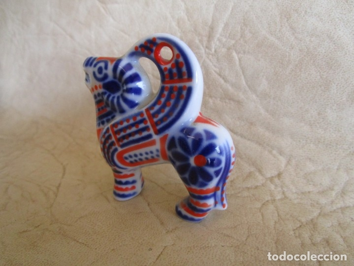 Antigüedades: pequeña figura colgante porcelana sargadelos carnero - Foto 3 - 177719709