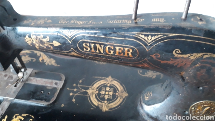 Antigüedades: Antigua máquina de coser Singer - Foto 2 - 177720947