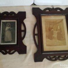 Antigüedades: JUEGO DE DOS PORTAFOTOS MODERNISTAS CON FOTOS AUTENTICAS.. Lote 177746249