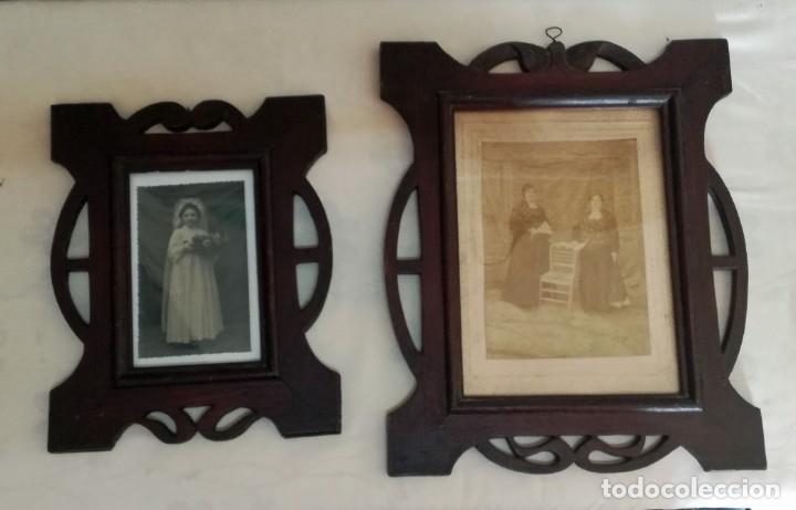 Antigüedades: JUEGO DE DOS PORTAFOTOS MODERNISTAS CON FOTOS AUTENTICAS. - Foto 3 - 177746249