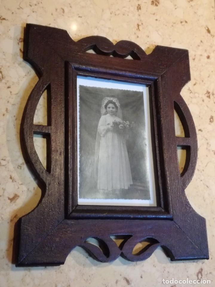 Antigüedades: JUEGO DE DOS PORTAFOTOS MODERNISTAS CON FOTOS AUTENTICAS. - Foto 7 - 177746249