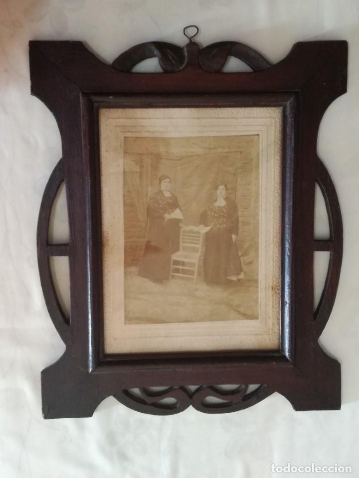 Antigüedades: JUEGO DE DOS PORTAFOTOS MODERNISTAS CON FOTOS AUTENTICAS. - Foto 8 - 177746249