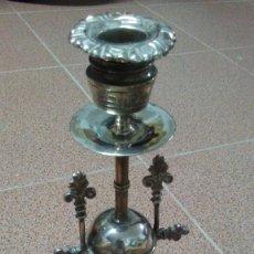 Antigüedades: CANDELABRO ANTIGUO DE PLATA MENESES. Lote 177746508