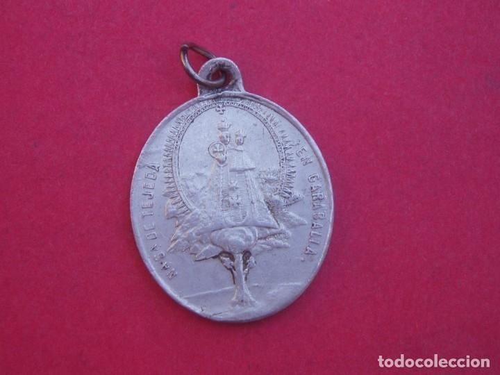 MEDALLA SIGLO XIX VIRGEN DE TEJEDA. GARABALLA. CRISTO DE LA CAÍDA VILLA DE MOYA. CUENCA. (Antigüedades - Religiosas - Medallas Antiguas)