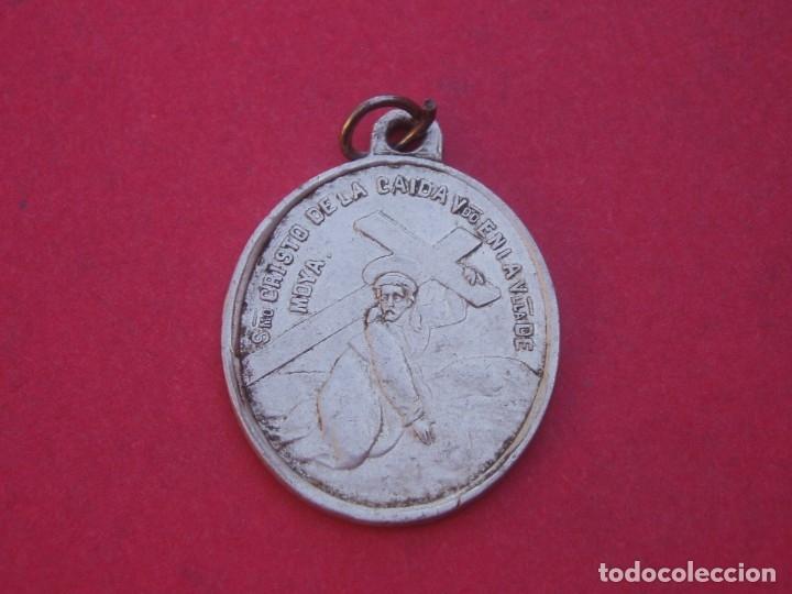 Antigüedades: Medalla Siglo XIX Virgen de Tejeda. Garaballa. Cristo de la Caída Villa de Moya. Cuenca. - Foto 2 - 177748327