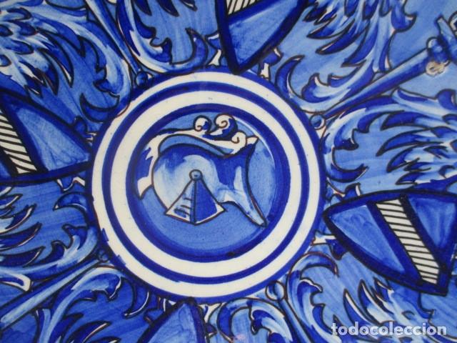 Antigüedades: plato antiguo ceramica Triana - Foto 2 - 177750315