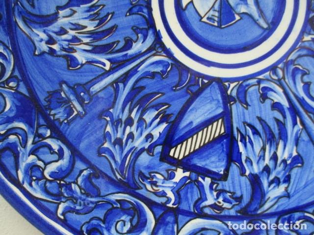 Antigüedades: plato antiguo ceramica Triana - Foto 3 - 177750315