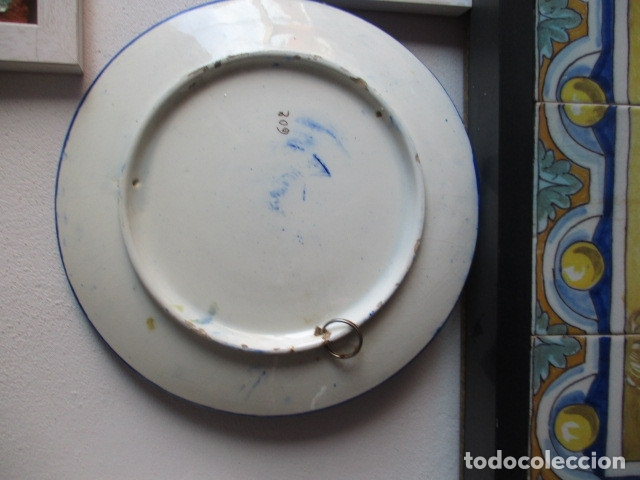 Antigüedades: plato antiguo ceramica Triana - Foto 4 - 177750315