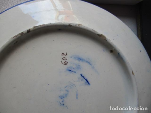 Antigüedades: plato antiguo ceramica Triana - Foto 5 - 177750315