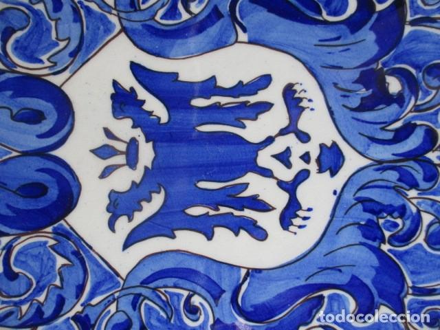 Antigüedades: plato antiguo ceramica Triana - Foto 2 - 177750403